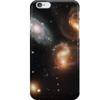 Galactic wreckage in Stephan's Quintet - Hubble Space Telescope iPhone Case/Skin