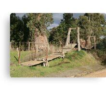 """Swinging Bridge"" Canvas Print"