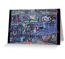 Graffiti Fun Greeting Card