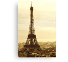 Old Eiffel Tower Canvas Print