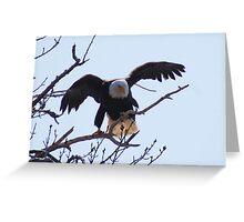 Departing Eagle Greeting Card