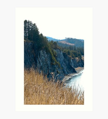 Kodiak Cliffside Art Print