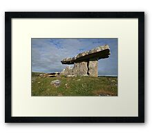 Summers morning at Poulnabrone 2 Framed Print