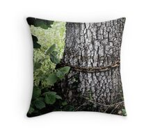 tree with chain Throw Pillow