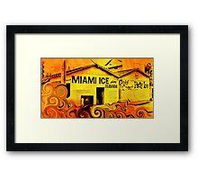 Miami Ice Framed Print