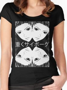 "Ghost In The Shell Arise ""Heavily Cyborg"" Women's Fitted Scoop T-Shirt"