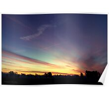 Colourful Sunset Poster