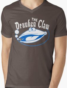 The drunken clam Funny Geek Nerd Mens V-Neck T-Shirt
