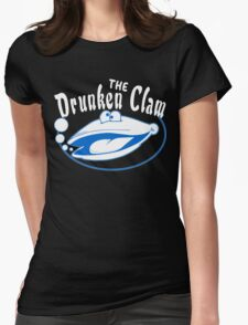 The drunken clam Funny Geek Nerd Womens Fitted T-Shirt