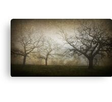 Ghostly Trees, Textured Canvas Print