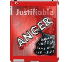 Justifiable anger at psychiatric abuse iPad Case/Skin
