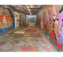 Graffiti Tunnel Photographic Print