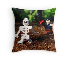 """Keep your damn filthy bones outta my mouth!"" Throw Pillow"