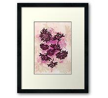 Peonies (black on pink) Framed Print