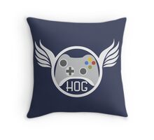 Head of Gaming Blue Throw Pillow