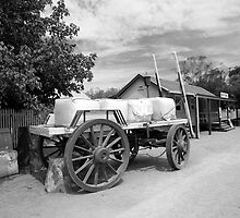 Wool Bales on Waggon by Gary Secombe
