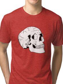 White Skull Tri-blend T-Shirt