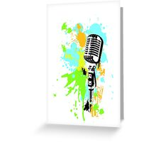 Old Skool Microphone Greeting Card