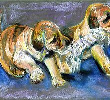 Puppies Playtime by darrenharry