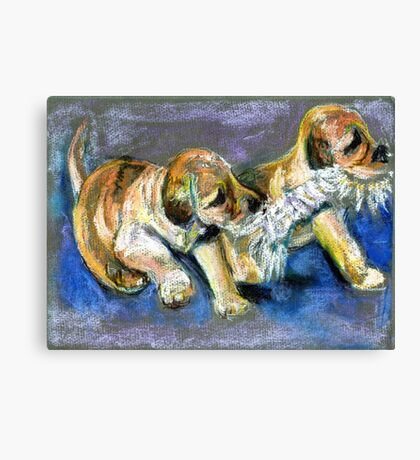 Puppies Playtime Canvas Print