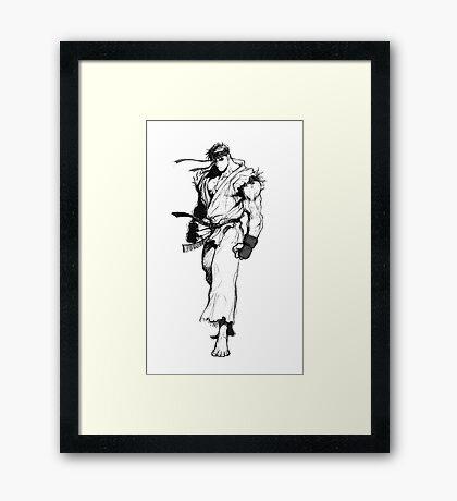 Ryu Portrait Framed Print
