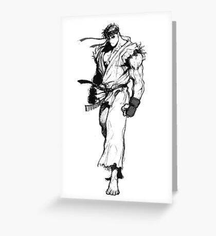 Ryu Portrait Greeting Card