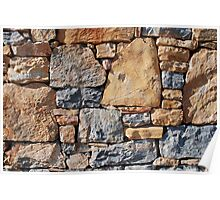 Dry stone wall, Alonissos Poster