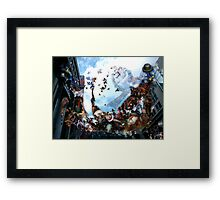 Playing with Magritte in the spirt of Breughel  Framed Print