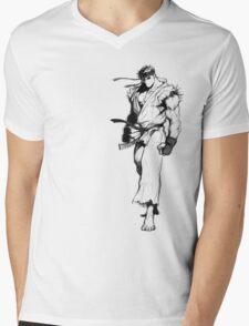 Ryu Portrait Mens V-Neck T-Shirt