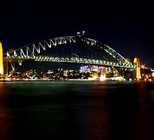 Sydney Harbour Bridge After Dark by Mark  Hodges