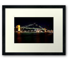 Sydney Harbour Bridge After Dark Framed Print