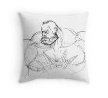 Zangief Portrait Throw Pillow