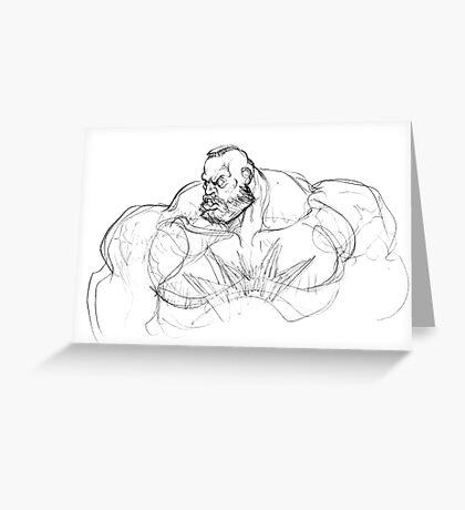 Zangief Portrait Greeting Card