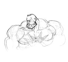 Zangief Portrait Photographic Print