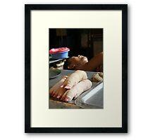 Hanoi Butcher Framed Print