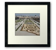 Belvedere Garden, Austria Framed Print