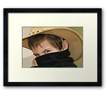 Zorro Junior Painted... Framed Print