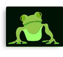 Black Frog Canvas Print