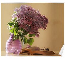 Sweet lilac blossoms Poster