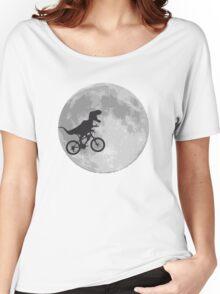 T-rex riding a bike Women's Relaxed Fit T-Shirt