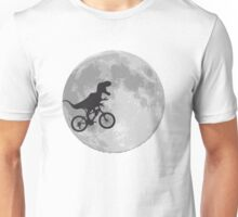 T-rex riding a bike Unisex T-Shirt