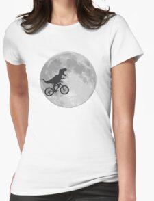 T-rex riding a bike Womens Fitted T-Shirt