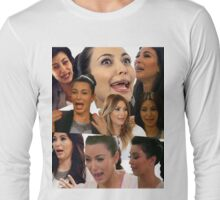 Kimmy K Crying Collage Long Sleeve T-Shirt