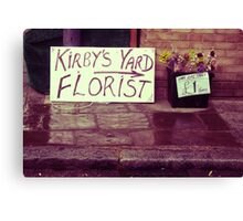 Smallest Florist in Town Canvas Print