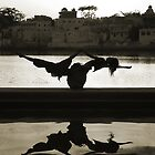 Yoga at the Lake&#x27;s Edge by Mukesh Srivastava