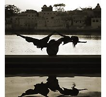 Yoga at the Lake's Edge Photographic Print