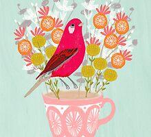Bird on a Teacup by Andrea Lauren  by Andrea Lauren