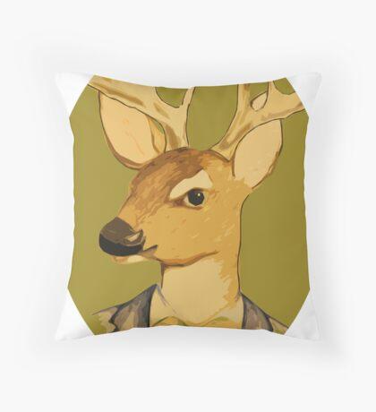 dapper deer Throw Pillow