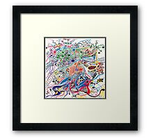 Samba dance  Framed Print