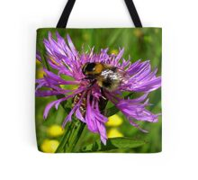 Bumble Bee on a wild Flower Tote Bag